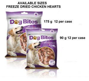 Dog Bites 2 Sizes Chicken Hearts